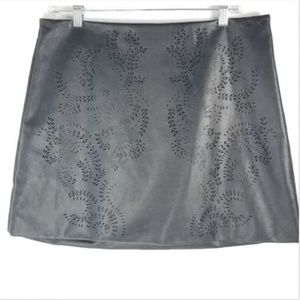Anthropologie Chelsea & Violet Faux Leather Skirt